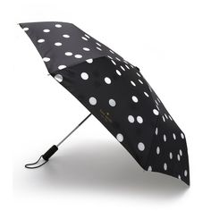 Kate Spade New York Dots Travel Umbrella (855 MXN) ❤ liked on Polyvore featuring accessories, umbrellas, extra, item, other, deco dots, kate spade, dot umbrella, polka dot umbrella and travel umbrellas