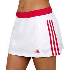 adidas Performance Womens Response Tennis Skort Skirt With Undershorts - White