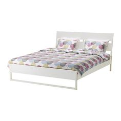 TRYSIL Bed frame, white, light grey $139 The price reflects selected options Article Number : 599.270.36 The angled headboard allows you to sit comfortably when reading in bed. Read mor