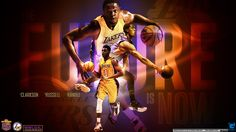 HD widescreen wallpaper of young Lakers players who should carry team on their back in future :) Full size can be downloaded at - http://www.basketwallpapers.com/USA/Los-Angeles-Lakers/ :)