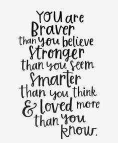 You are strong.