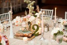Table joliment décorée pour un mariage décidé aux couleurs pastel