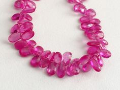 Crystal Quartz Faceted Pear Beads Coated Crystal by gemsforjewels