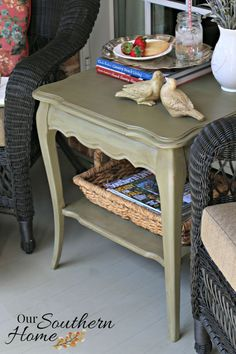 french country chalk painted table