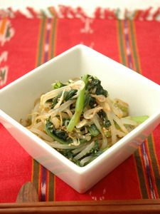 小松菜ともやしのナムル。