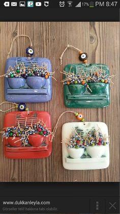 Dükkan Leyla: seramik - Hobbies paining body for kids and adult Polymer Clay Projects, Diy Clay, Clay Crafts, Polymer Clay Jewelry, Ceramic Wall Art, Ceramic Clay, Stoneware Clay, Paper Clay, Clay Art
