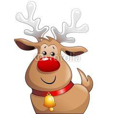 #Cute #Christmas #Reindeer #Cartoon-#Vector © #Bluedarkat - on #Fotolia!