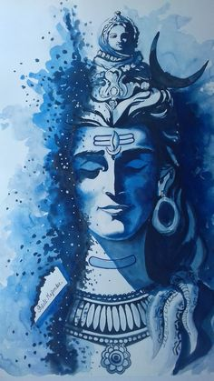 Buy Painting Of Lord Shiva Painting at Lowest Price by Shiuli Majumder Shiva Hindu, Shiva Art, Ganesha Art, Krishna Art, Hindu Art, Lord Hanuman Wallpapers, Lord Shiva Hd Wallpaper, Indian Art Paintings, Buy Paintings