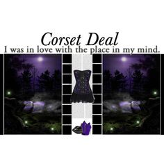 """""""I was in love with the place in my mind.""""  Briana Gothic Corset http://www.corsetdeal.com/Briana-Gothic-Corset_p_3636.html  Your Price:$108.29 Retail Price:$138.29   Desiree Lace Tu Tu Skirt http://www.corsetdeal.com/Desiree-Lace-Tu-Tu-Skirt_p_2733.html   #corsetdeal #corset  #waisttrainingcorset"""