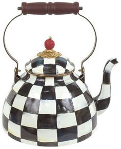 Mackenzie Childs MacKenzie-Childs Courtly Check Two-Quart Tea Kettle on shopstyle.com