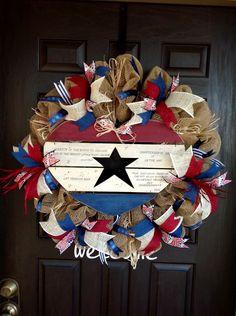 Americana Wreath By J.Wolfe/Brown Door Wreaths and more.