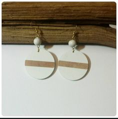 Check out this item in my Etsy shop https://www.etsy.com/listing/194598582/wood-dangle-earrings-white-stripe