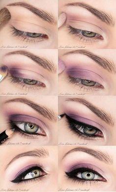 Pink Eye Make-up Tutorials! von Caity W - Muselige Make-up-Ideen light - Makeup Ideas Purple Eye Makeup, Love Makeup, Makeup Tips, Beauty Makeup, Hair Makeup, Makeup Ideas, Eyeliner Makeup, Perfect Makeup, Eyeliner Ideas