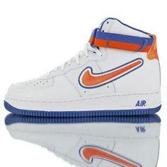 a07c4b9ea820 Nike Air Force 1 High  07 LV8 Sport Knicks White Blue Orange AV3938-100