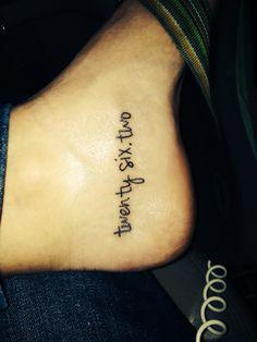 Marathon Tattoo. 26.2