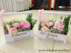 podziękowania dla rodziców, bukiety dla rodziców, kosze kwiatowe dla rodziców, skrzynie kwiatowe dla rodziców, Trousseau Packing, Wedding Accessories, Flower Arrangements, Deco, Floral Wreath, Wreaths, Samara, Catering, Parents