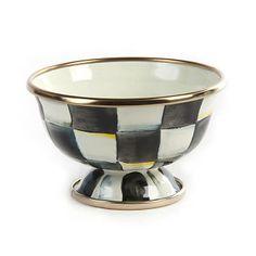 MacKenzie-Childs - Courtly Check Enamel Little Sugar Bowl