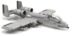 Someone designed a Lego A-10. Don't worry there's a detailed parts list so you can make one too.