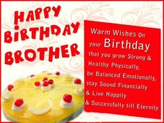 7 Best Bday Wishes For Bro Images
