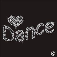 Love Dance Rhinestone Diamante Transfer Iron On Hotfix Gem Crystal T Shirt Motif #TWISTEDENVY