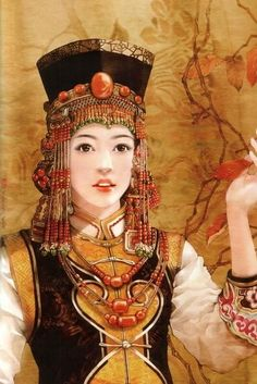 Mongol Woman painting by Chinese artist from China Today