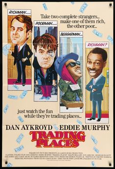 Trading Places 1983 In 2021 Trading Places Comedy Films Best Movie Posters