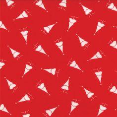 Winter Wonderland - Oh Christmas Tree in Redwork (2873 17) // Juberry Fabrics