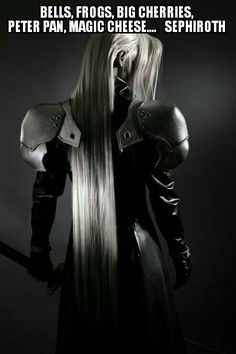 Final Fantasy 7 - awesome Sephiroth cosplay They forgot the fire. Arte Final Fantasy, Final Fantasy Cosplay, Epic Cosplay, Amazing Cosplay, Cosplay Outfits, Cosplay Costumes, Fantasy Art, Cool Stuff, Sephiroth Cosplay
