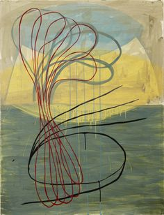 RISING… acrylic on paper, Ky Anderson