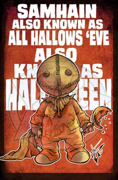 Second in a line of 13 Horror quote prints. First one here [link] Trick r' Treat is just a freakin awesome flick and they don't get creepier or cuter th. Trick R Treat 2007, Trick R Treat Movie, Sam Trick R Treat, Horror Icons, Horror Art, Horror Movies, Bad Candy, Fright Night, Mini Paintings