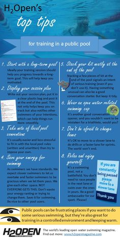 758c2f09a456f Tips for swimming training in public pools - infographic | H2Open Magazine  Swim Training, Pools