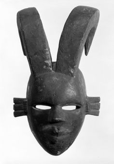 Brooklyn Museum: Arts of Africa: Mask with Two Curved Horns