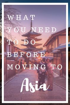 What You NEED to Do Before moving to Asia. Don't make the same mistakes I did. Take these practical tips and be ready before you move to Asia to start working and travelling. Includes a free downloadable checklist.
