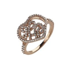 Oxette Rose Gold Silver 925 Ring with zircons - Available here http://www.oxette.gr/kosmimata/daktulidia/ster.silv.rosegold-pl.ring-heart-white-cz-oxette-637l-1/    #oxette #OXETTEring #jewellery