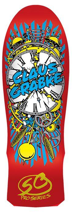 Santacruz: 10in x 30in Grabke Exploding Clock Reissue  Deck