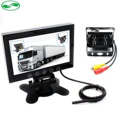 (64.99$)  Watch more here - http://aibil.worlditems.win/all/product.php?id=32793407946 - DC 12~36V Bus Truck Video Parking Monitor System, HD 7 Inch LCD Car Monitor With 6~20M RCA Cable CCD Rear View Camera
