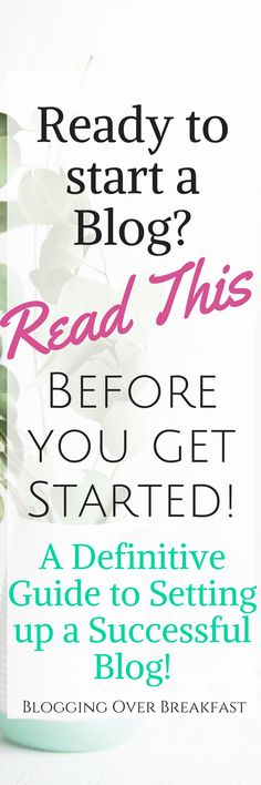 Before you start a blog you have to read this! These steps made sure that my blog took off running, looking so professional and ready to go! #blogging #blog #blogger #bloggingtips #howtostartablog #startablog #makemoneyonline #bloggingforbeginners #blogginglikeaboss #makemoneyfromhome