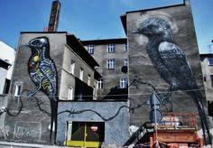 ROA @ Katowice, Polonia Strange Pictures, Eurotrip, Street Art Graffiti, Land Art, Art Photography, Industrial, Places, Creative, Outdoor