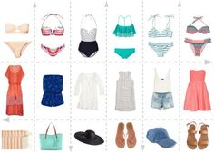 Beach outfit ideas, love some of these swimsuits Holiday Outfits, Summer Outfits, Cute Outfits, Holiday Clothes, Beach Look, Beach Babe, Beach Vacation Outfits, Beach Trip, Vintage Hawaiian Shirts