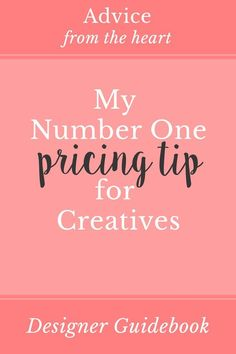 My number one pricing tip for creatives is simple: create package pricing and post it clearly on your site! Click to learn how and why to create pricing packages!