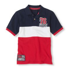 This patriotic color-blocked style is great with jeans or shorts! (Children's Place 4-14)