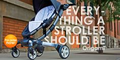 Automatic Fold and Unfold. 90% recycled materials. Recharges on its own and folds to half the size of a typical stroller. Sleek and stylish too. What more can you ask for?