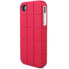 iPhone 4 / 4S Platinum Collection Fusion Series Turtle Shell Hybrid Case - Hot Pink