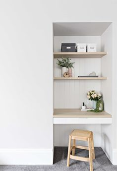 The Stables Caringbah Web Desk Nook, Office Nook, Home Office Design, Home Office Decor, House Design, Office Ideas, Colorful Kitchen Decor, Kitchen Colors, Modern Interior Design