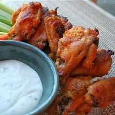 Baked Buffalo Wings - These easy to make hot wings are crispy without being fried. Always yummy to snack on