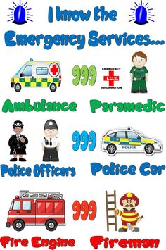 Childminding EYFS Emergency Services A4 Laminated Poster | eBay