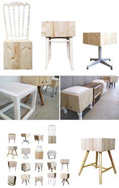 wood block chairs