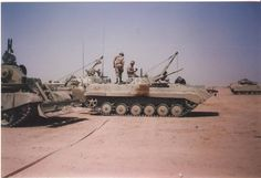 Iraqi BMP-1 in a coalition custody Operation Desert Storm.