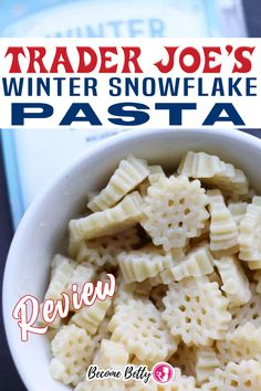 Trader Joe's Winter Snowflake Pasta is one of many seasonal and whimsical shapes of pasta that Trader Joe's offers on a rotating basis. Trader Joe's seems to have a pasta for every season. Winter is getting into the game with this pasta. Now, I pointed out a few flaws with the zucchette pasta and this too suffers from the same flaw. | Become Betty @becomebetty #traderjoes #traderjoespasta #traderjoesshopping #traderjoesdiditagain #traderjoesfan #traderjoeswinter #traderjoesrevi Trader Joe's Pasta, Trader Joes Vegetarian, Best Trader Joes Products, Sloppy Joes Recipe, Grilled Peaches, Pasta Shapes, Easy Family Dinners, Best Dinner Recipes