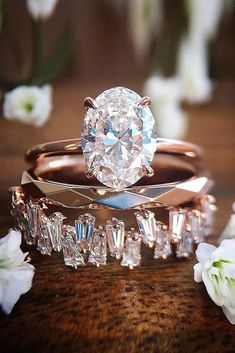 Marriage Rings - 18 Best Rose Gold Engagement Rings For Tender Look ❤ best rose gold engagement rings wedding set oval cut solitaire ❤ More on the blog: ohsoperfectpropos... #engagementrings @rosegoldengagementrings - Marriage rings are the jewel in common between him and you, it is the alliance of a long future and an age-old custom. Think about it, this ring will age along with you so why not choose the best, most beautiful and durable?